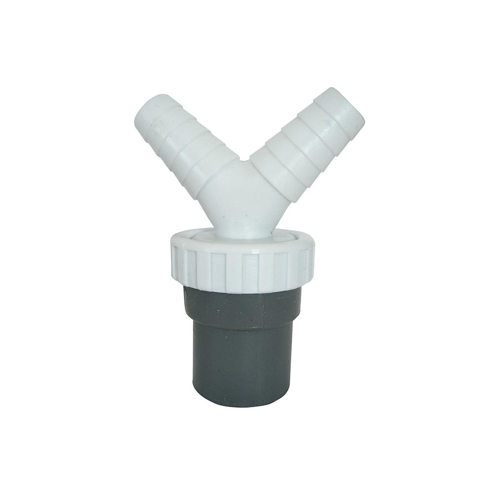 Enlace Mixto - Tubos Lisos - Doble Toma - Plastico Pvc