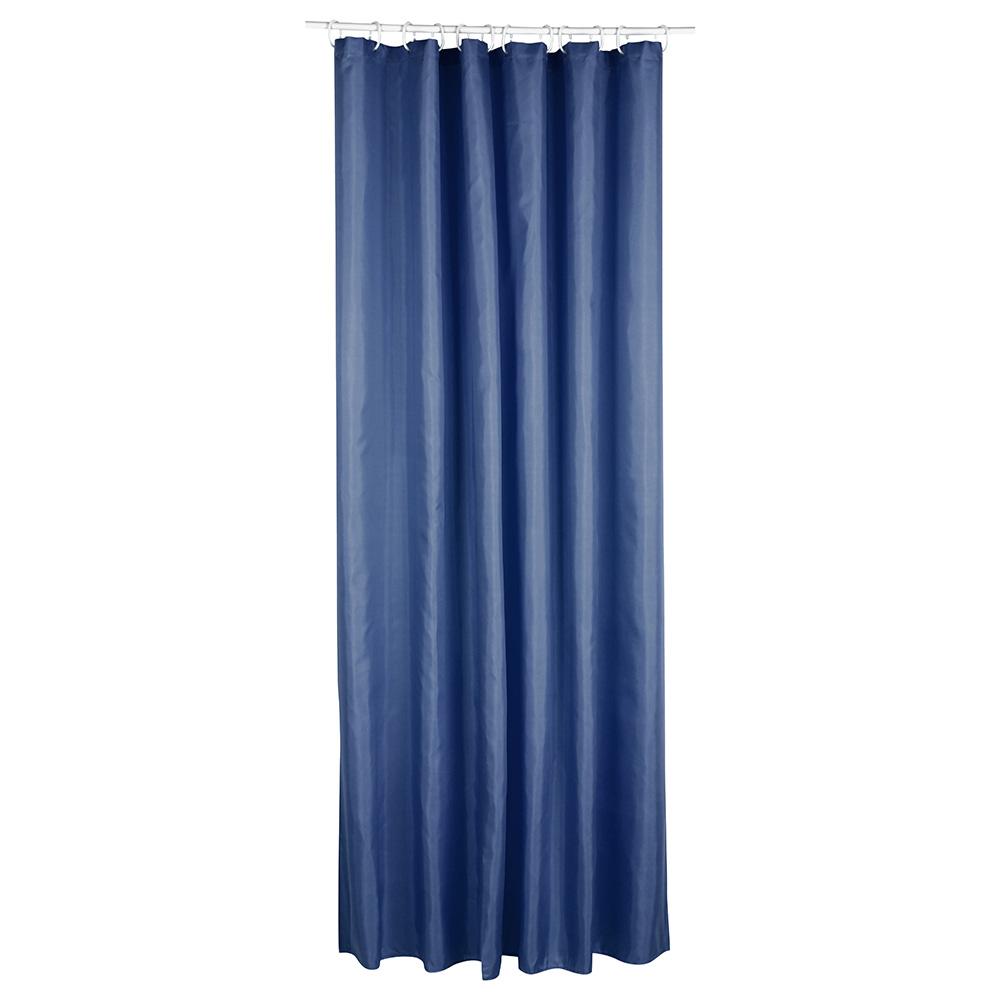 Cortina Para Baño Polyester Azul Marino 180X200Cm