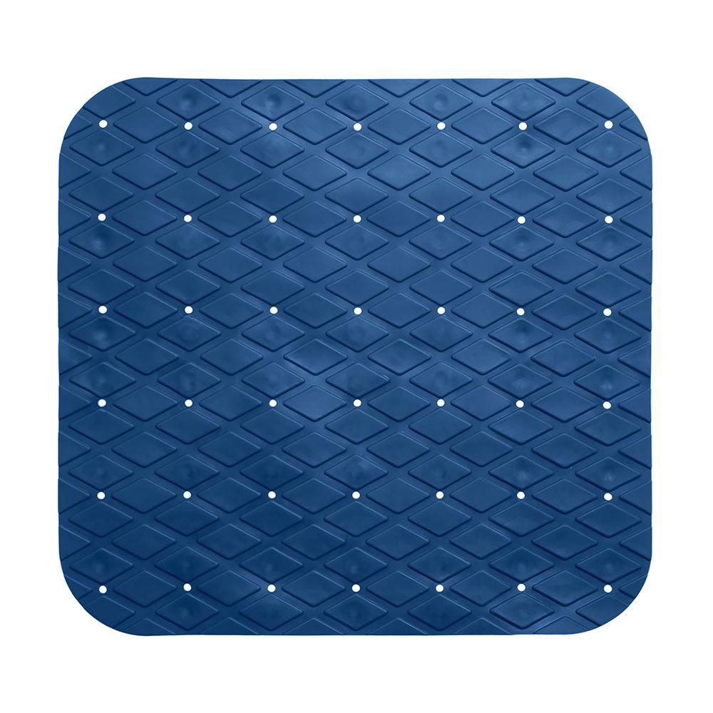 Alfombra Interior Ducha Antideslizante Pvc Cuadrada Azul Marino 55X55Cm