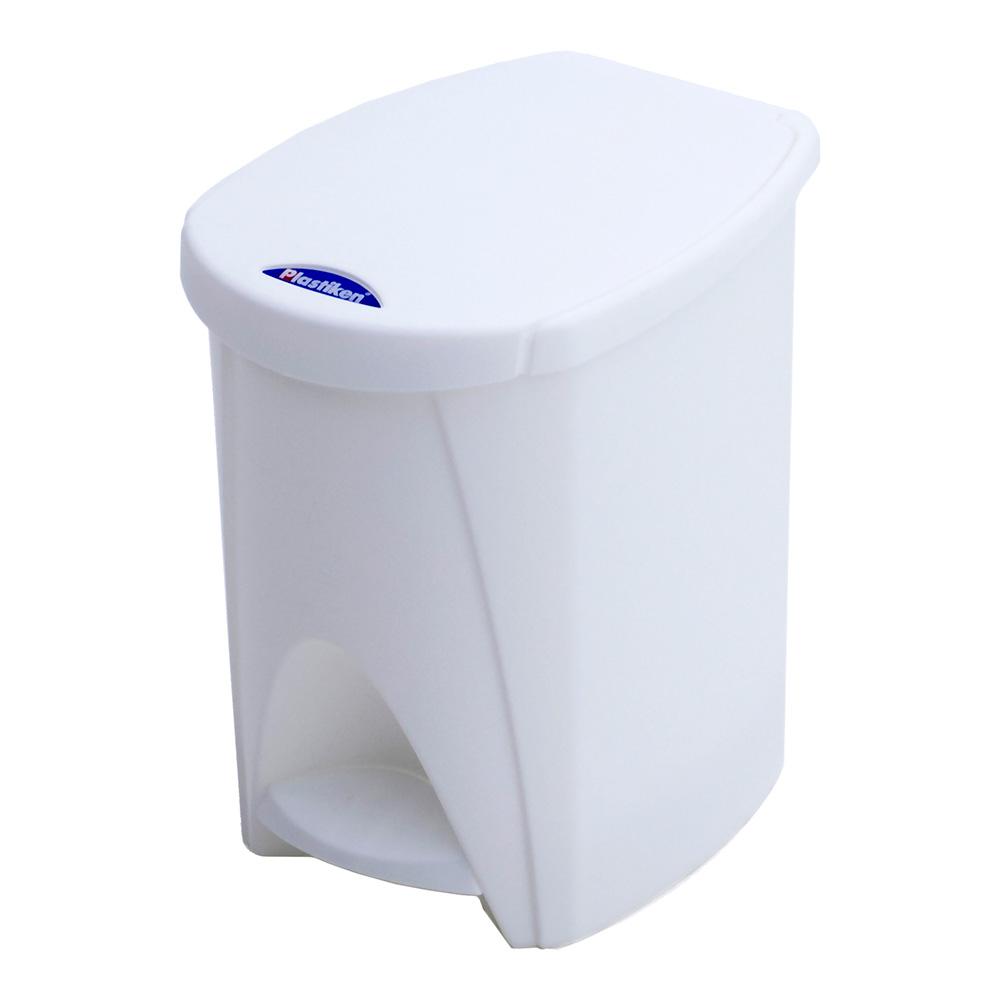 Cubo Pedal De 7L Blanco