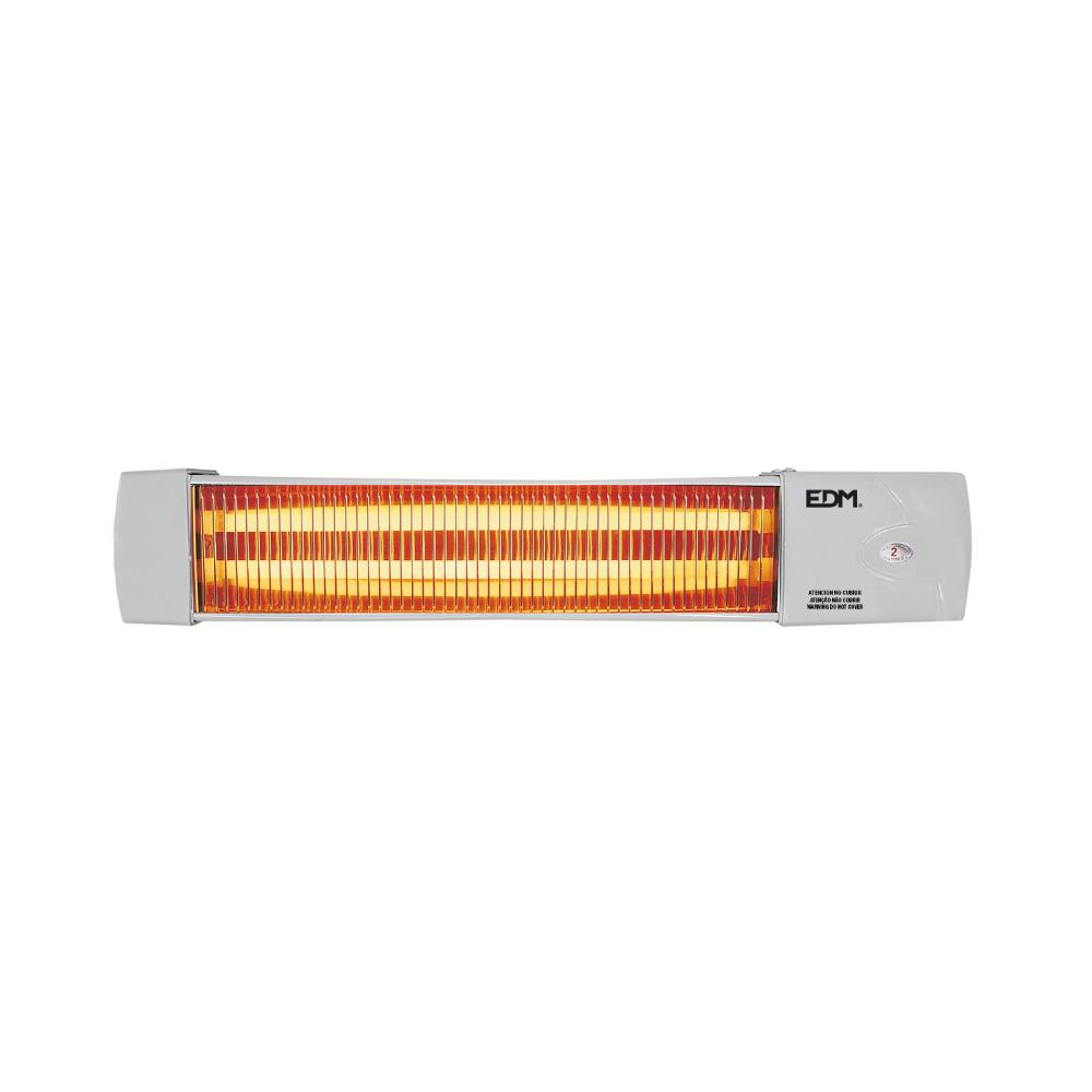 Estufa De Baño De Cuarzo - Modelo Marfil - 600-1200W -  Orientable - Edm