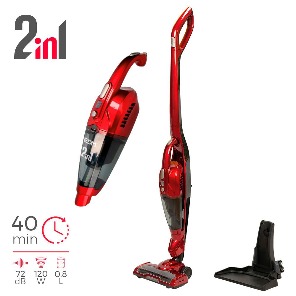 Aspiradora Escoba Sin Cable 2 En 1 Edm 22.2V 120W.