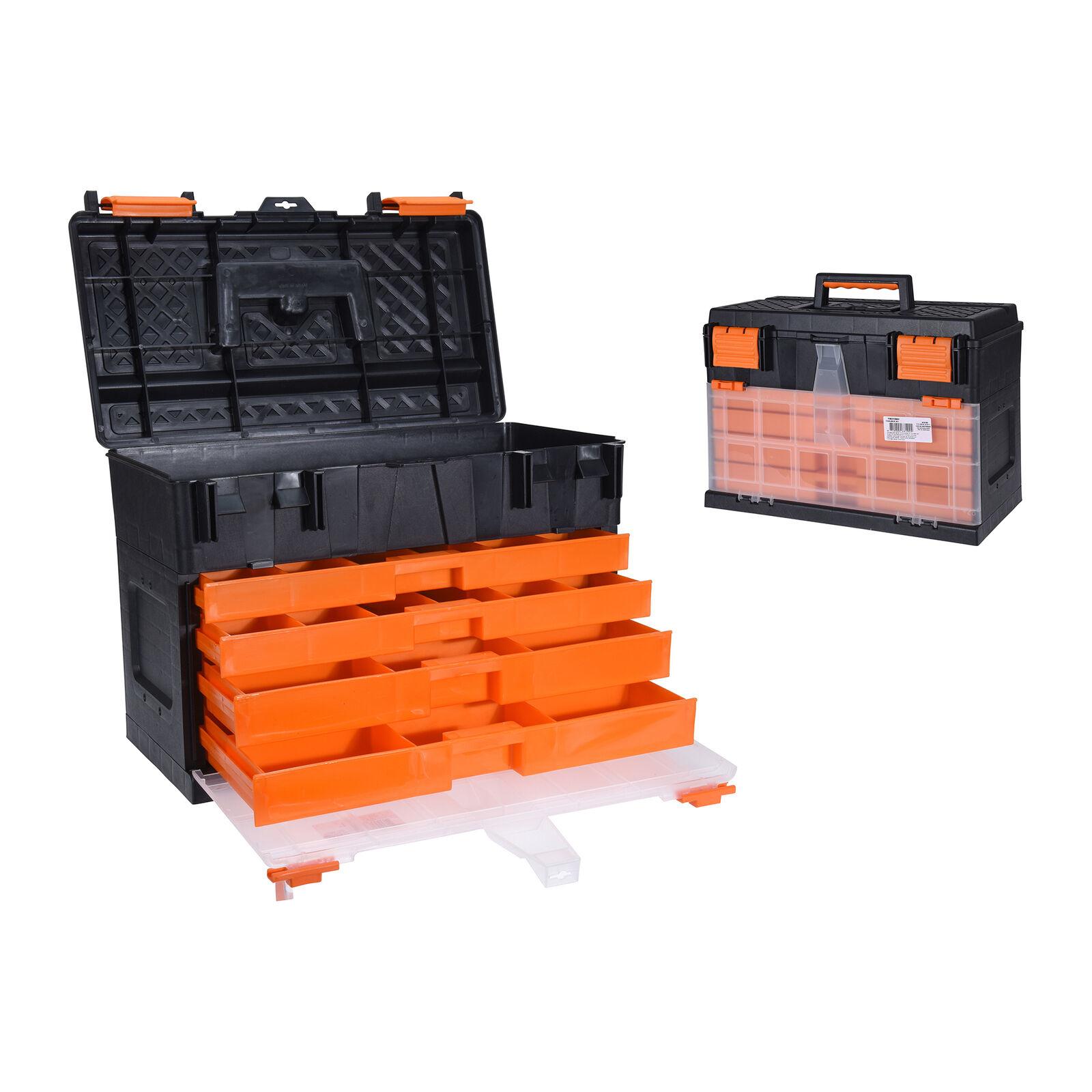 Caja Herramientas Gris/Rojo 45X26X32Cm