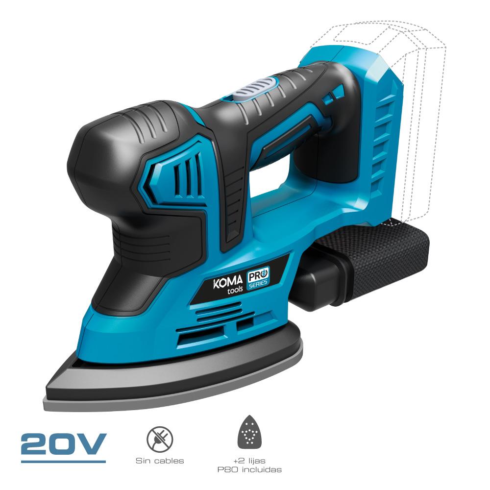 Lijadora 20V (Sin Bateria Y Cargador)  Koma Tools Pro Series Battery Edm