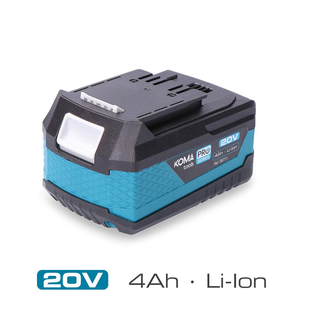 Bateria Litio 20V 4.0Ah Koma Tools Pro Series Battery Edm