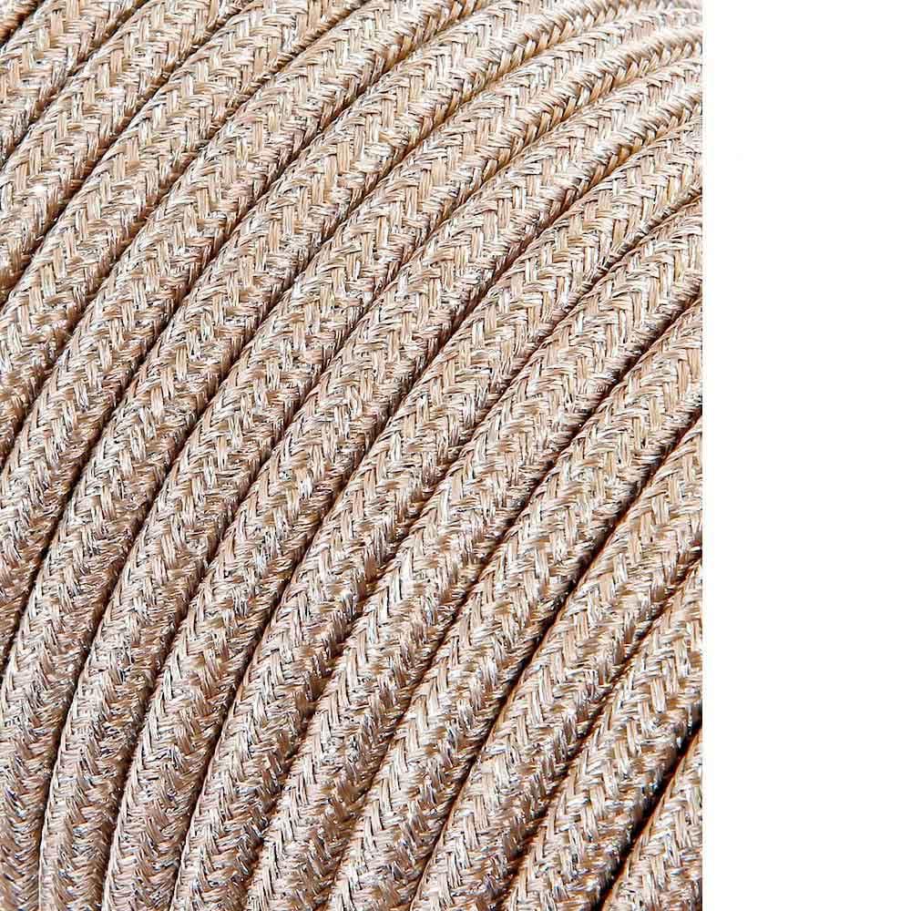 Cable Cordon Tubulaire 2X0,75Mm C15 Beige 5Mts
