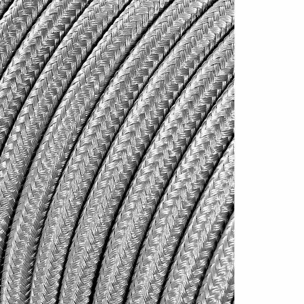 Cable Cordon Tubulaire 2X0,75Mm C64 Plata 5Mts