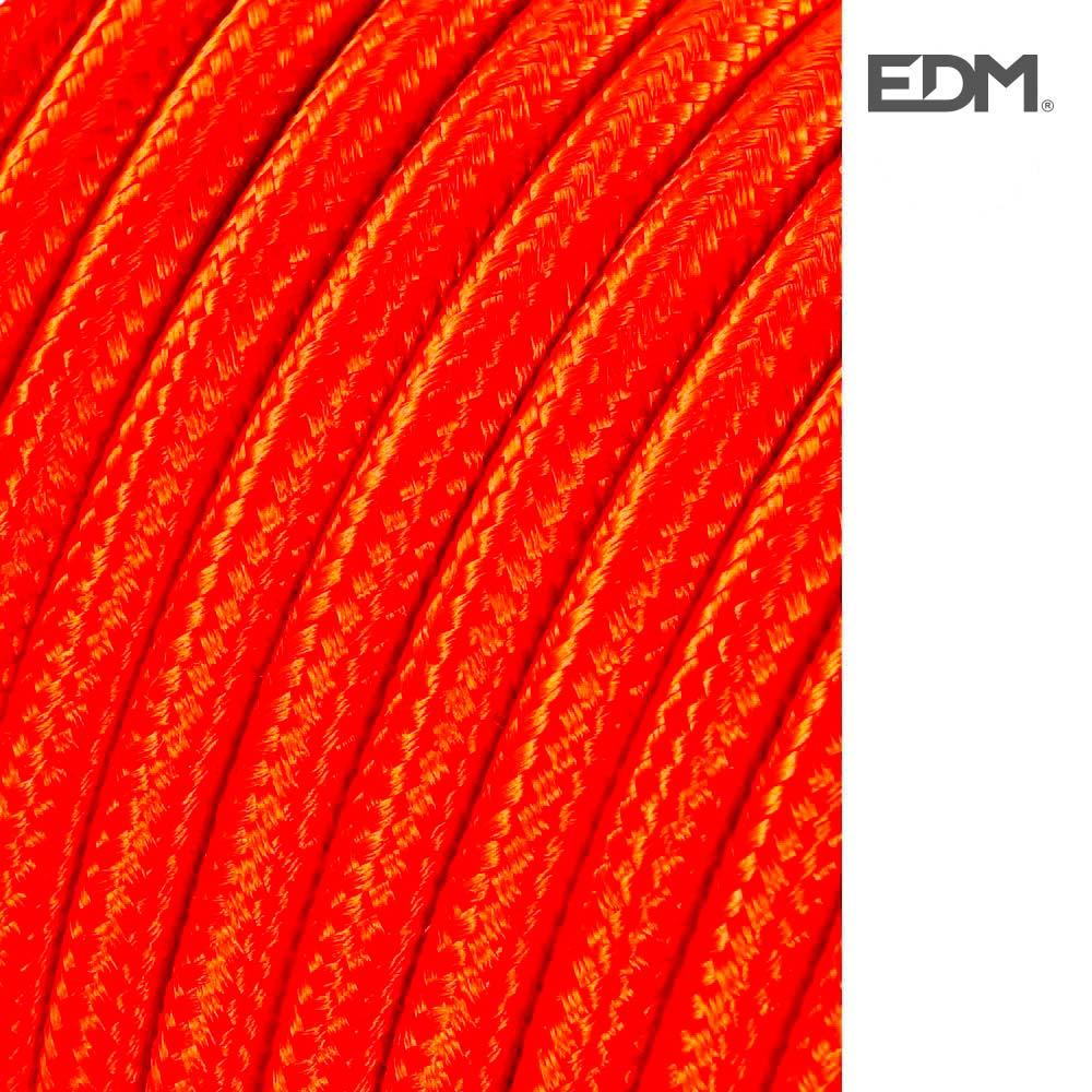 Cable Cordon Tubulaire 2X0,75Mm C42 Naranja 5Mts