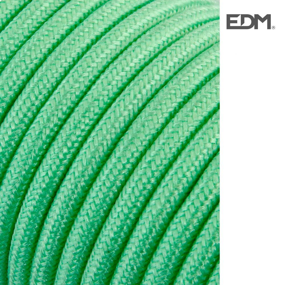 Cable Cordon Tubulaire 2X0,75Mm C69 Verde Claro 5Mts