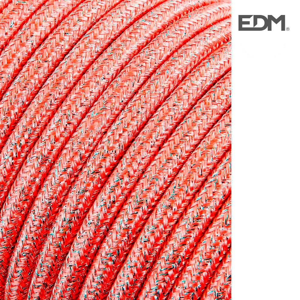 Cable Cordon Tubulaire 2X0,75Mm Rosa Brillante 5Mts