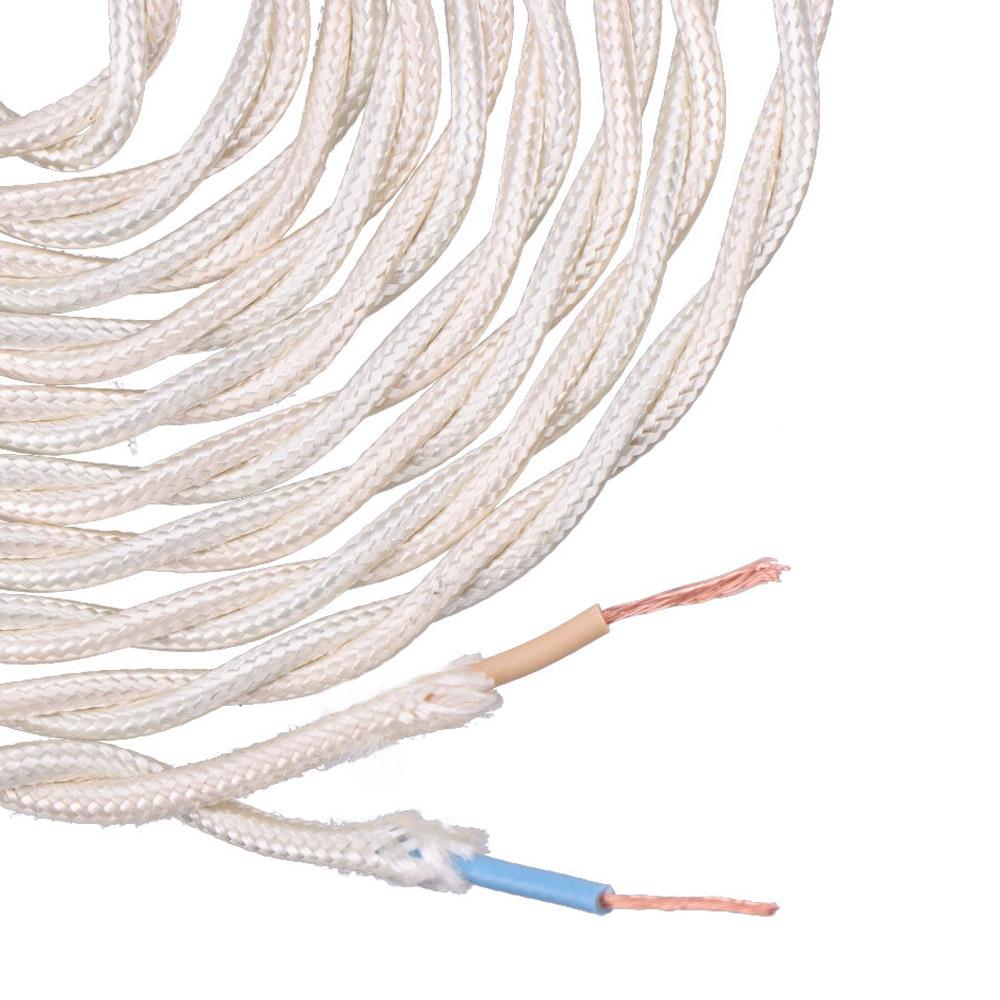 Cable Textil Trenzado 2X0,75Mm C-15 Beige Seda 5M