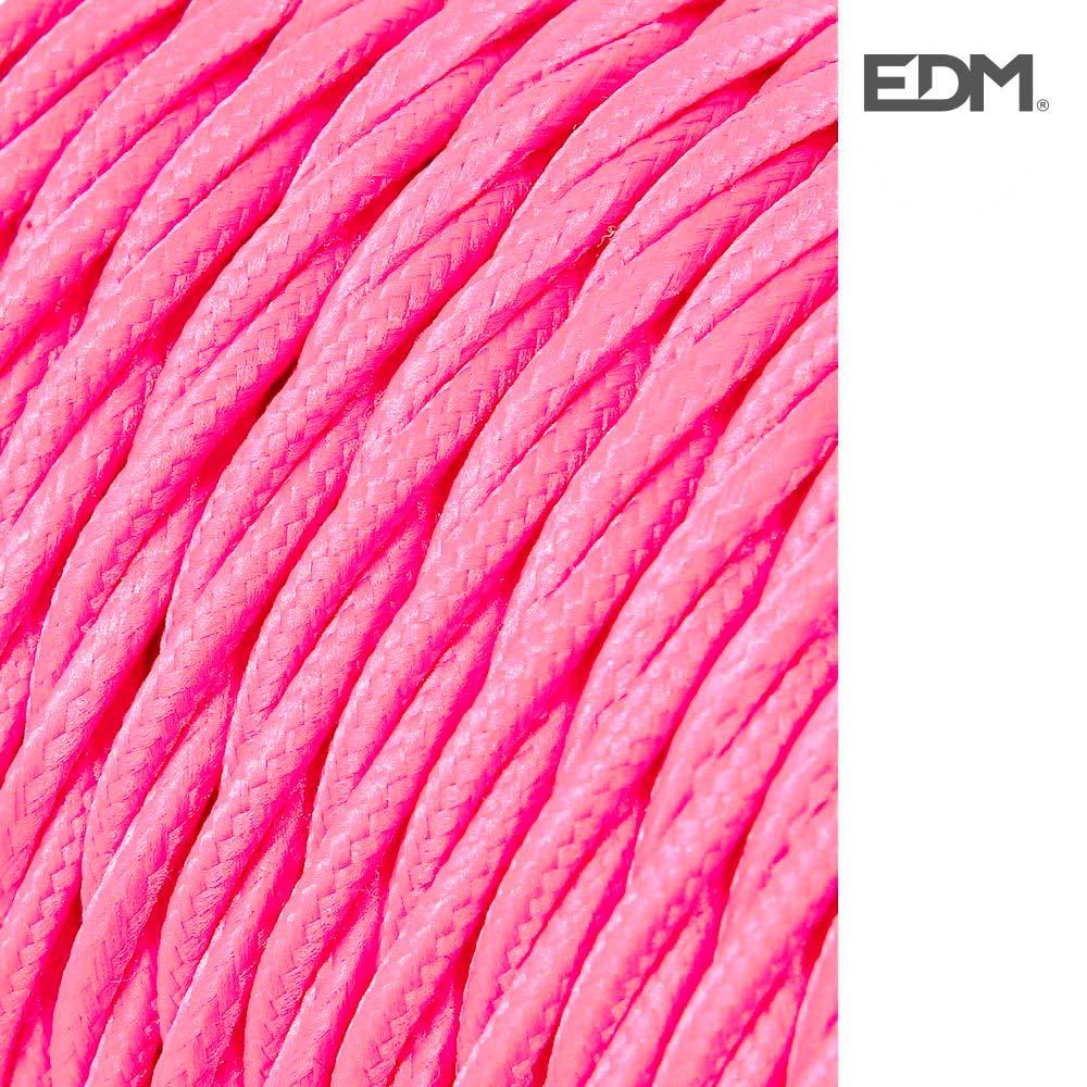*Ult.Unidades*  Cable Textil Trenzado 2X0,75Mm C-26 Rosa Seda 5M