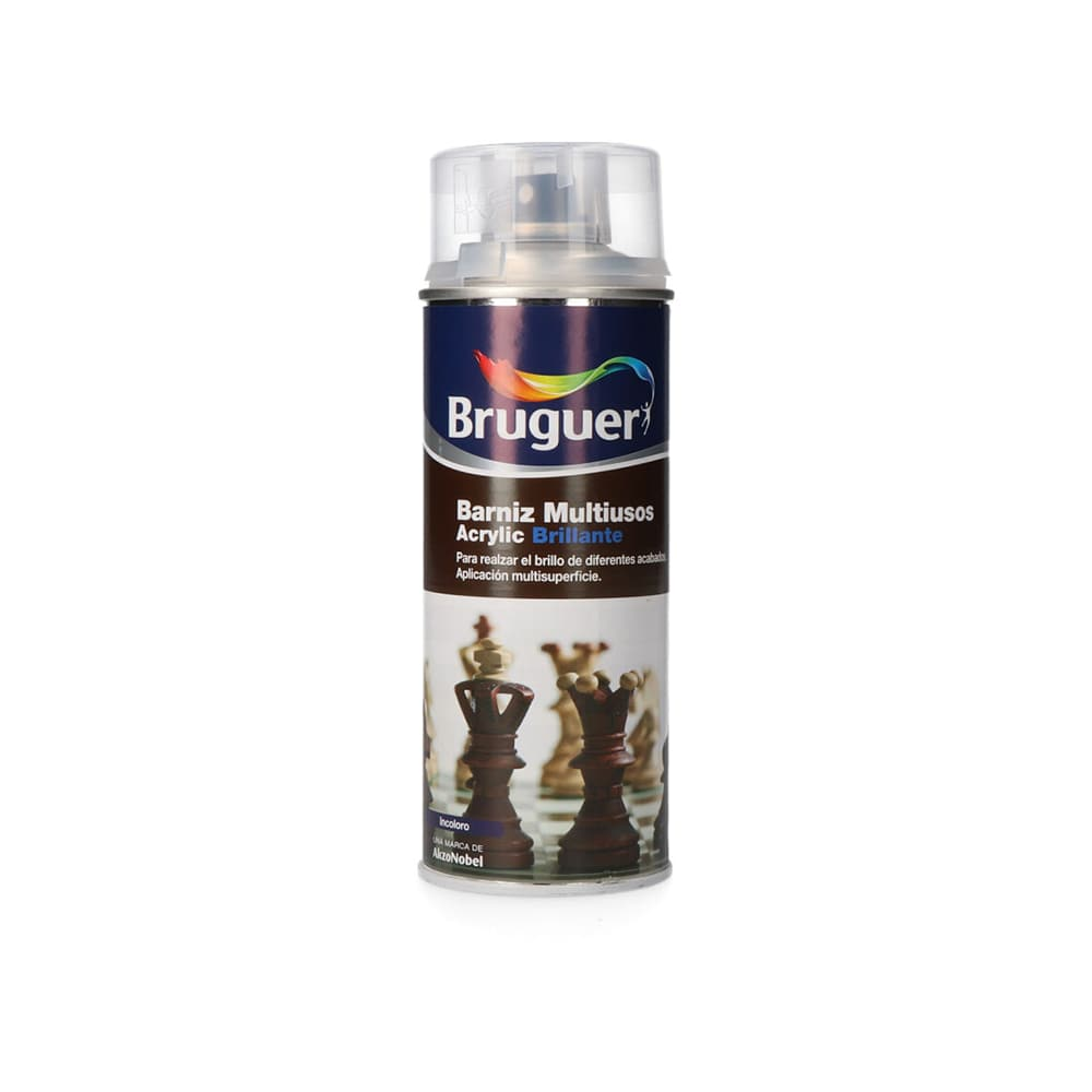 Barniz Multiuso Acrylic Brillante Spray Incoloro 0.4L Bruguer