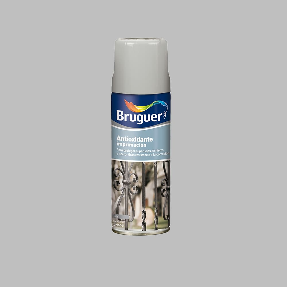 Antioxidante Imprimacion Spray Gris 0,4L Bruguer