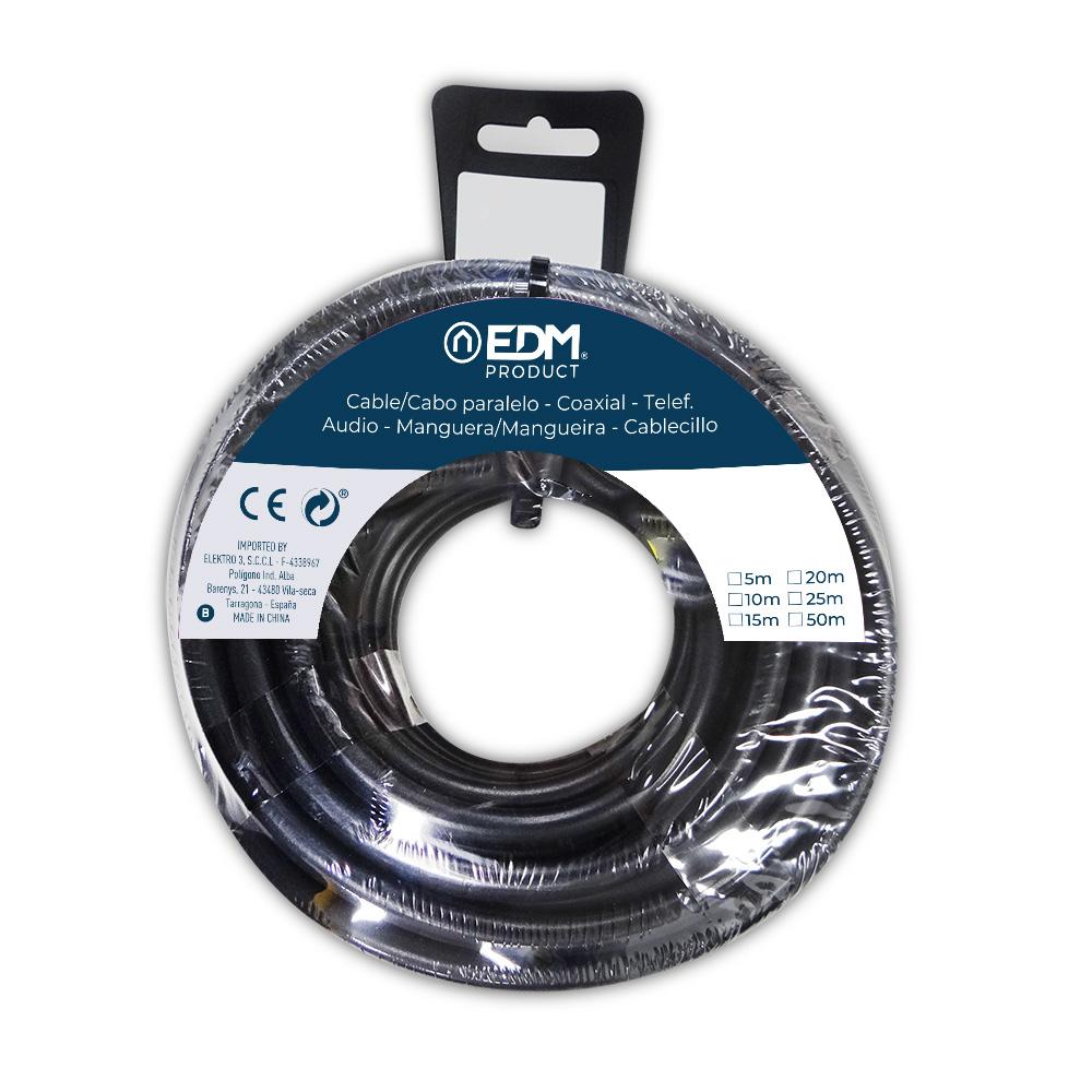 Carrete Acril Negro 3X1 15M