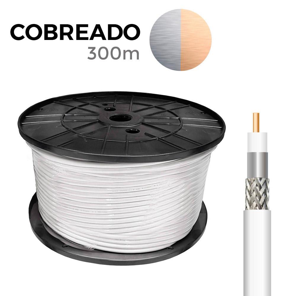Carrete Coaxial Cobreado 300Mts Edm (Bobina Grande)