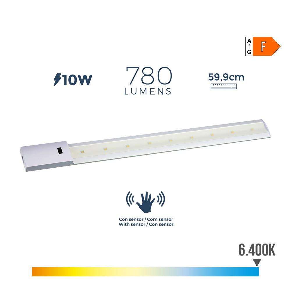 Regleta Led Con Sensor 10W 780 Lumens 6.400K Luz Fria Edm