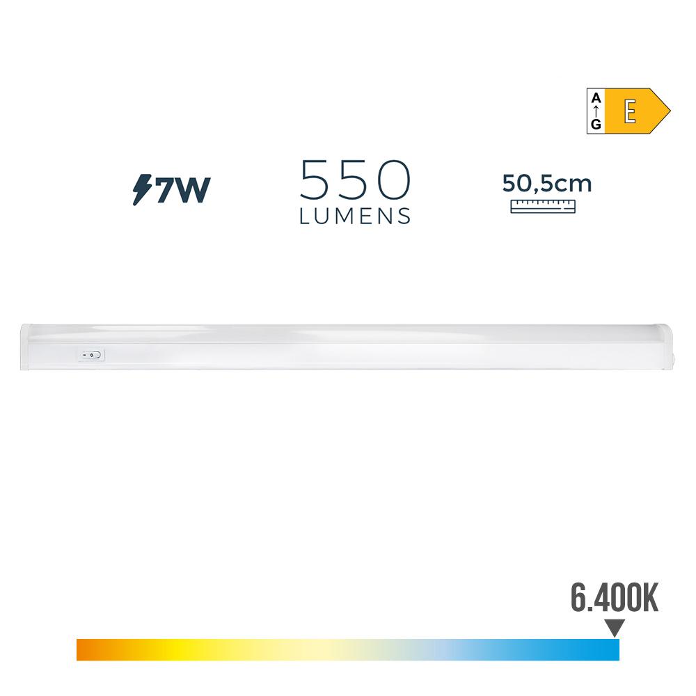 Regleta Electronica Led 7W 550 Lumens 52Cm 6.400K Luz Fria Edm