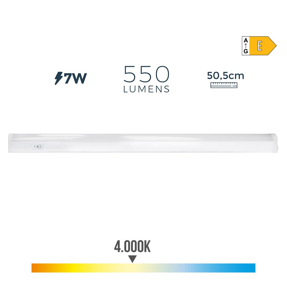 Regleta Electronica Led 7W 550 Lumens 52Cm 4.000K Luz Dia Edm