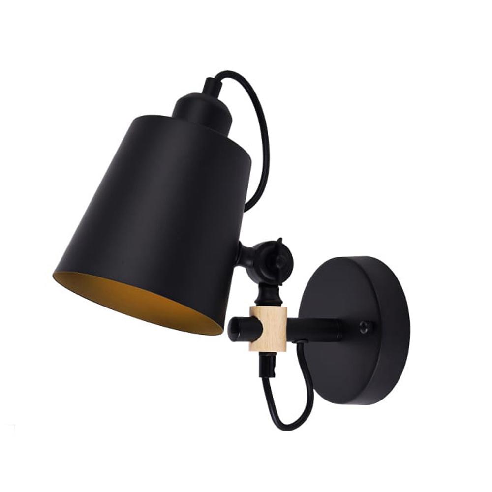 Aplique Pared E27 Negro Edm