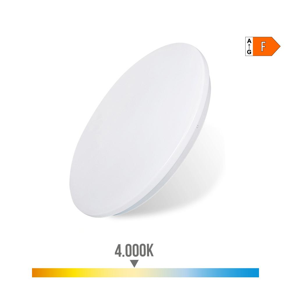 Aplique Superficie Led Extraplano 24W 1.680 Lumens 4.000K Circular 38X6,6Cm  Edm
