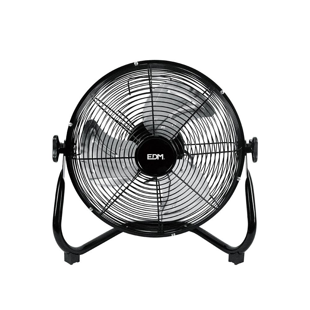 Ventilador Industrial De Suelo Cromado 45W Ø Aspas 30 Cm Edm