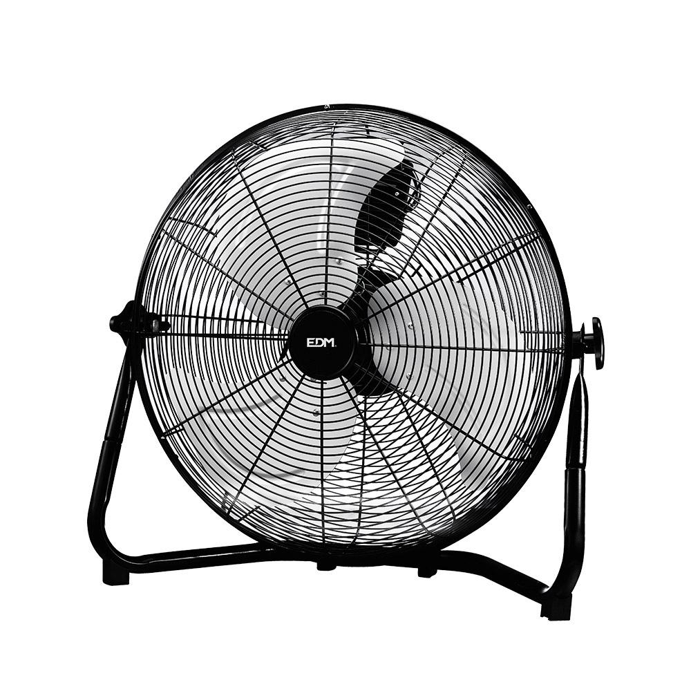 Ventilador Industrial De Suelo Cromado 110W Ø Aspas 45 Cm Edm