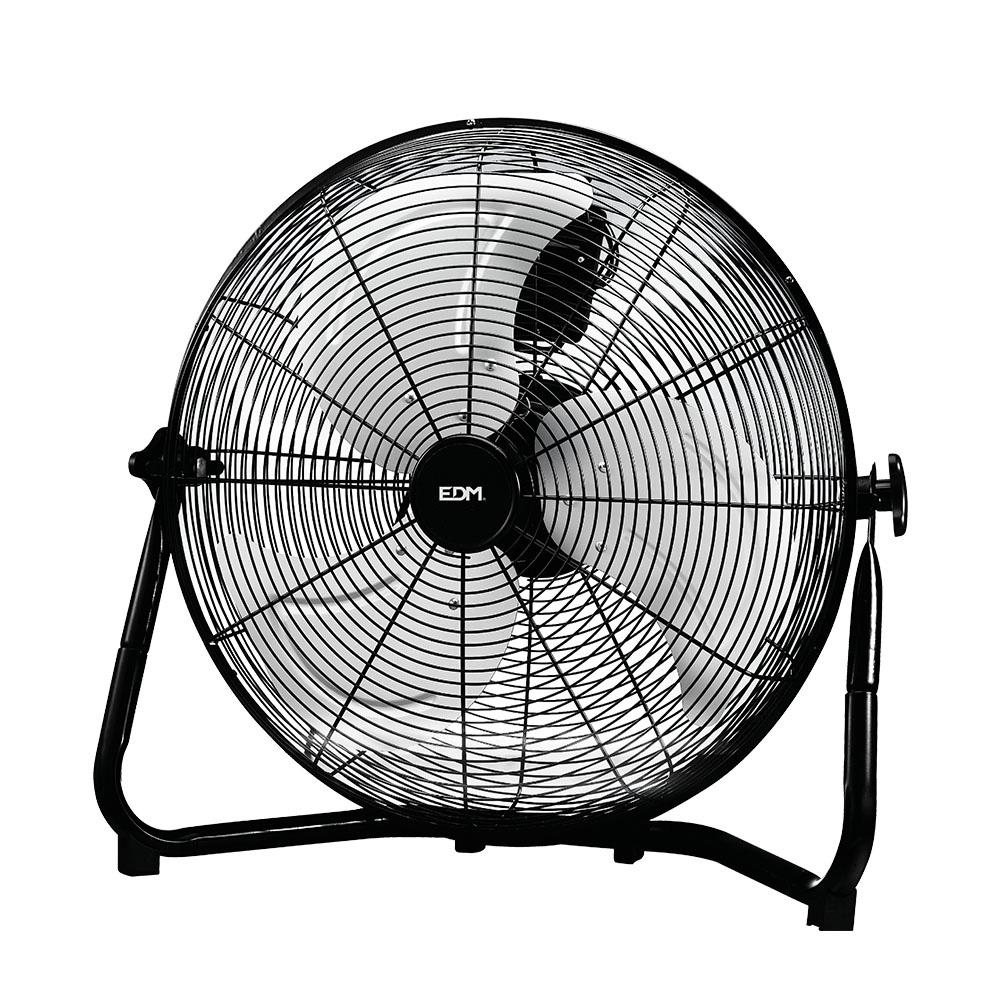 Ventilador Industrial De Suelo Cromado 130W Ø Aspas 50 Cm Edm