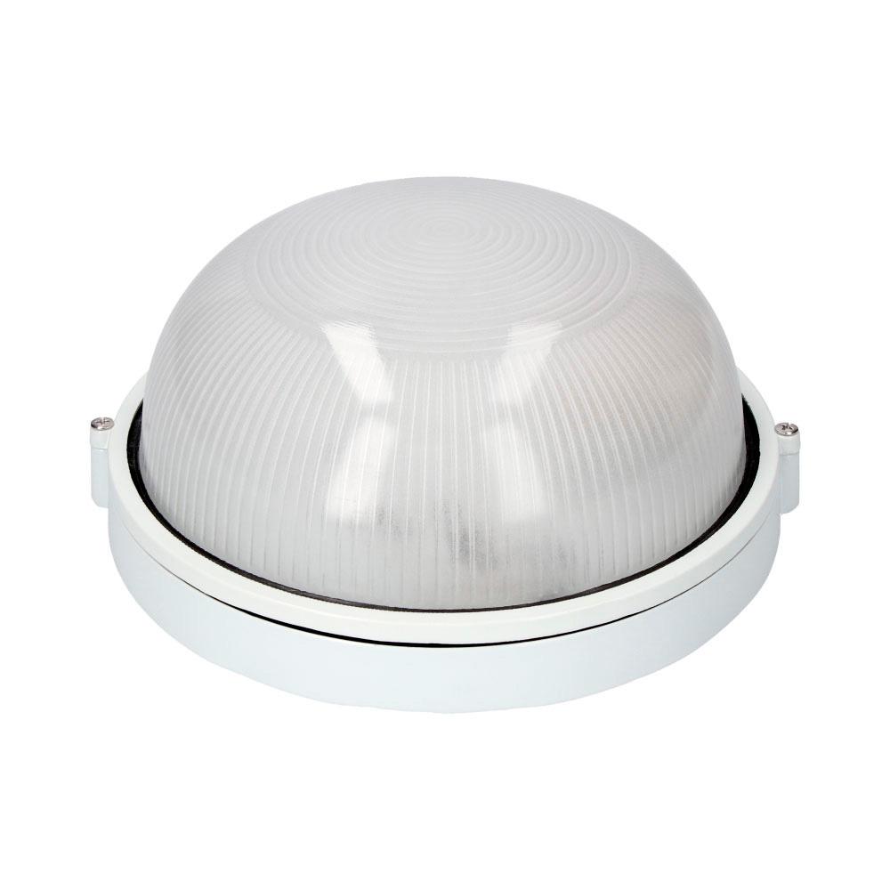 Aplique Aluminio  Ip54 Redondo Blanco 1Xe27 100W Modelo Cambrils Ø25.4Cm