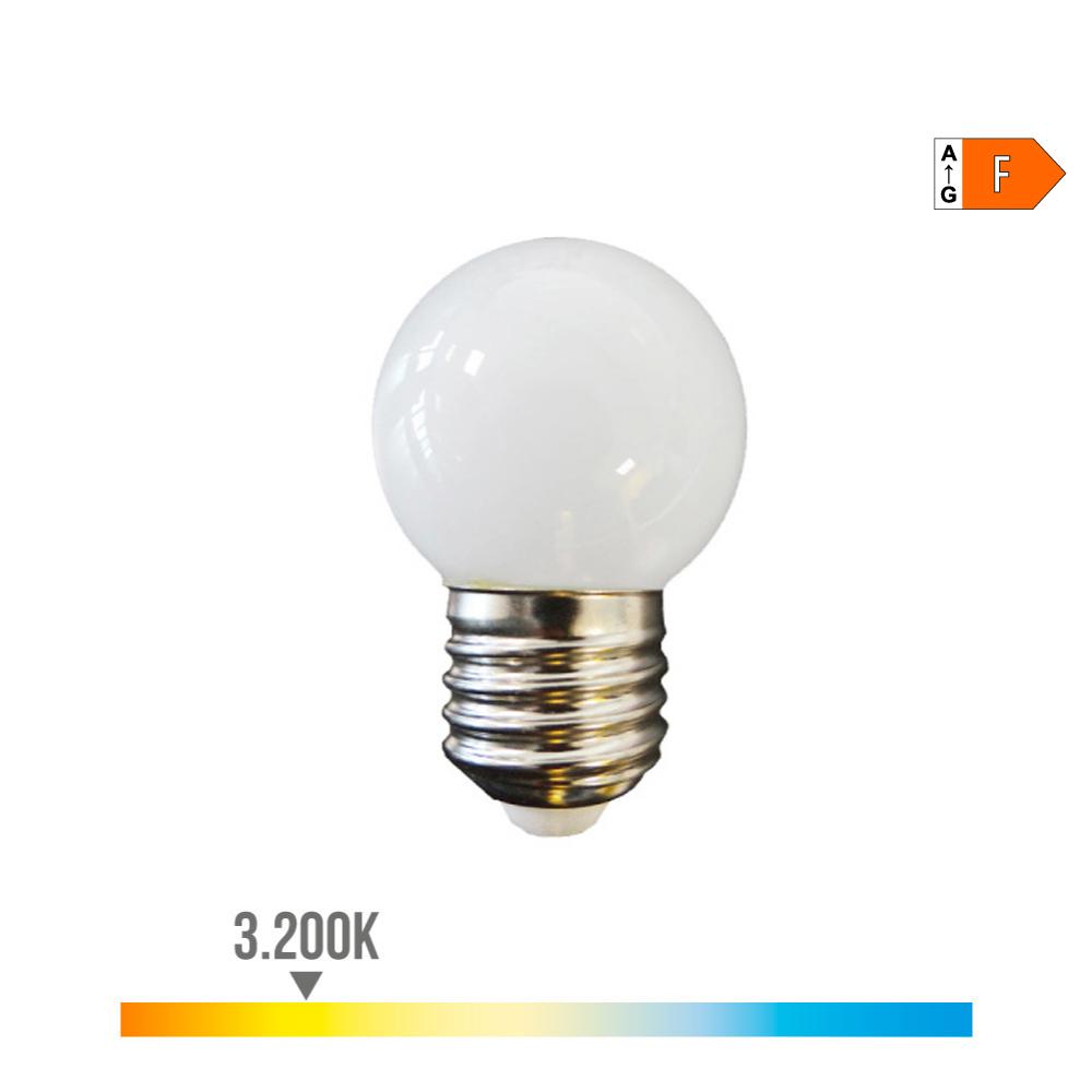 Bombilla Esferica Led E27 1,5W 80 Lm 3200K Luz Calida Edm