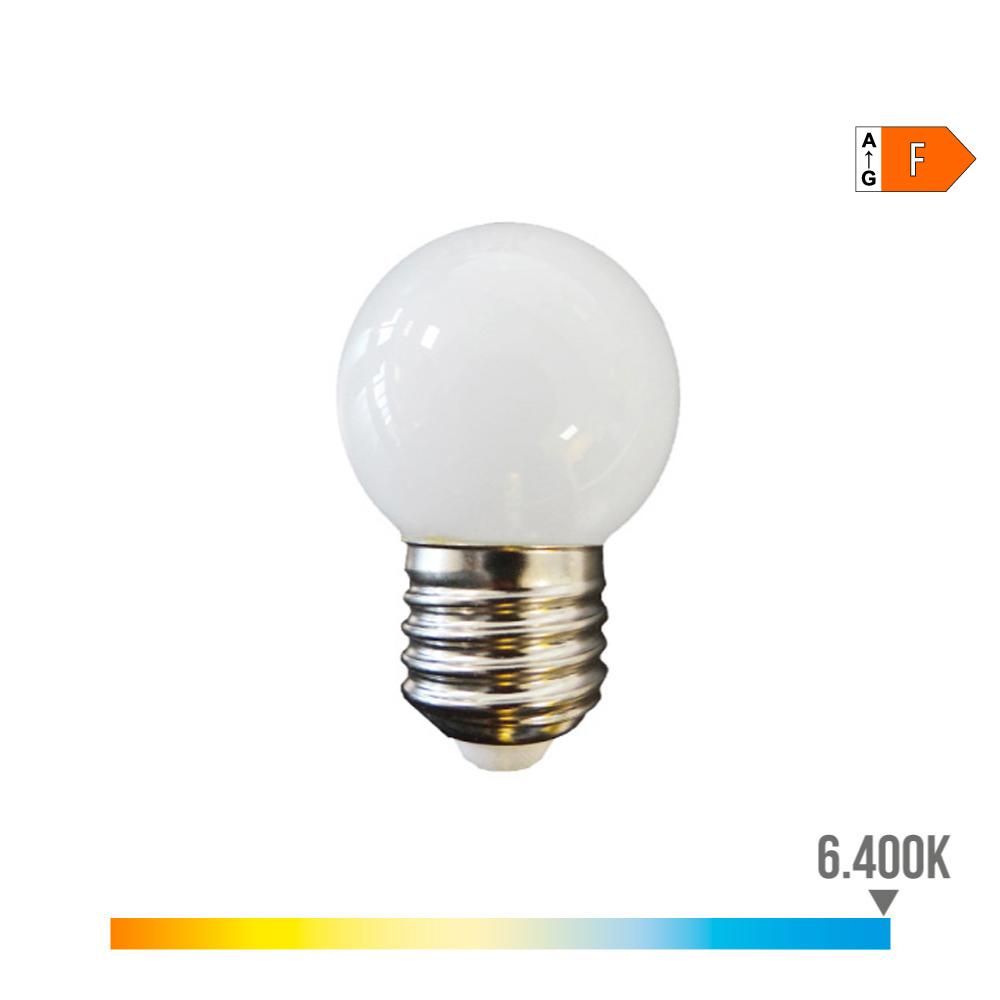 Bombilla Esferica Led - Mate - E27 - 1,5W - Luz Fria - Edm