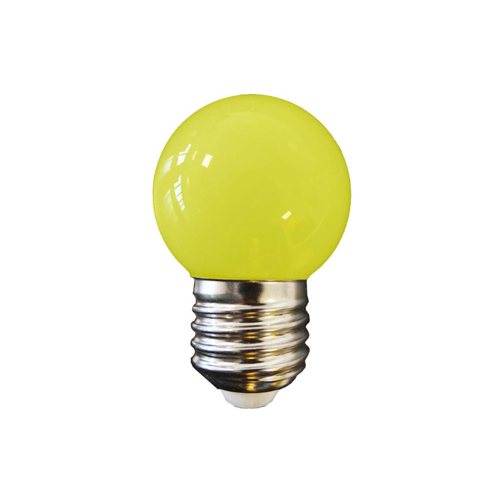 Bombilla Esferica Led - Mate - E27 - 1,5W - Amarilla - Edm