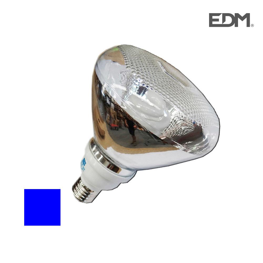 *Ult. Unidades* Bombilla Bajo Consumo Par38 23W E27 Luz Azul 6400K Edm