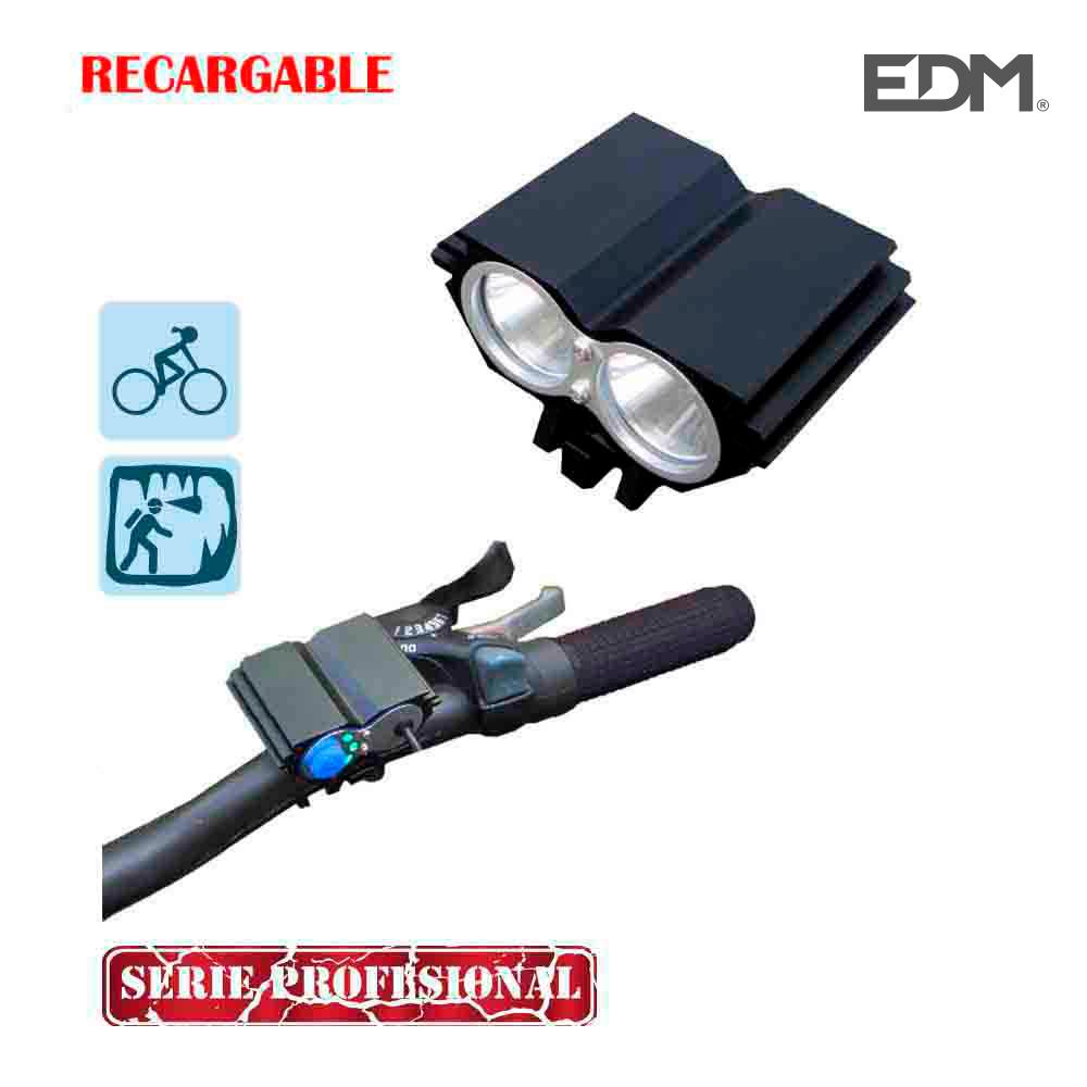 *Ult.Unidades* Linterna Recargable De Cabeza Y Bicicleta Con 2 Super Led Cree Xml T6  (Cargador Y Batería Incluida)