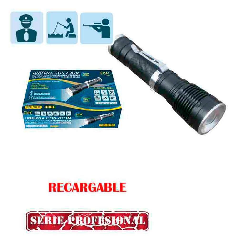 Cree xml t6 led zoom ajustable de poche torche de sécurité lampe lampe de poche