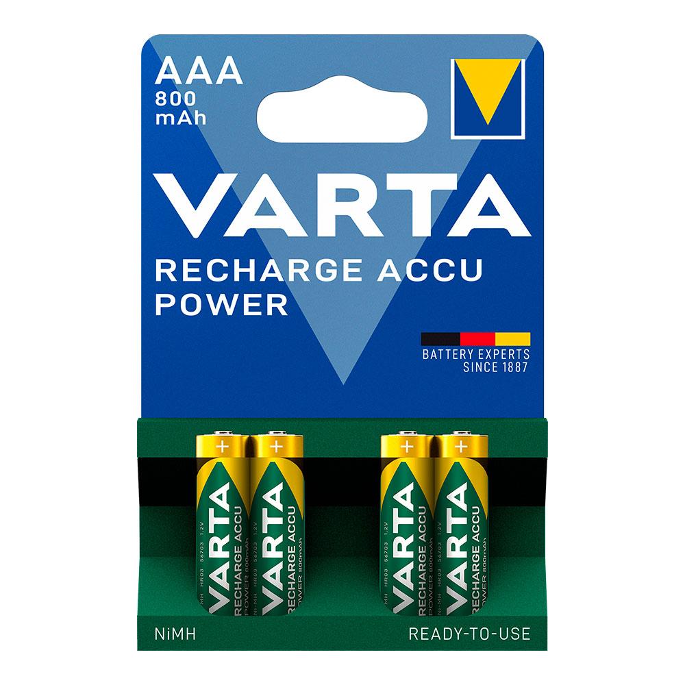 Pila Varta  Recargable  Accu Power Aaa Lr03 800Mah Pack 4Uni
