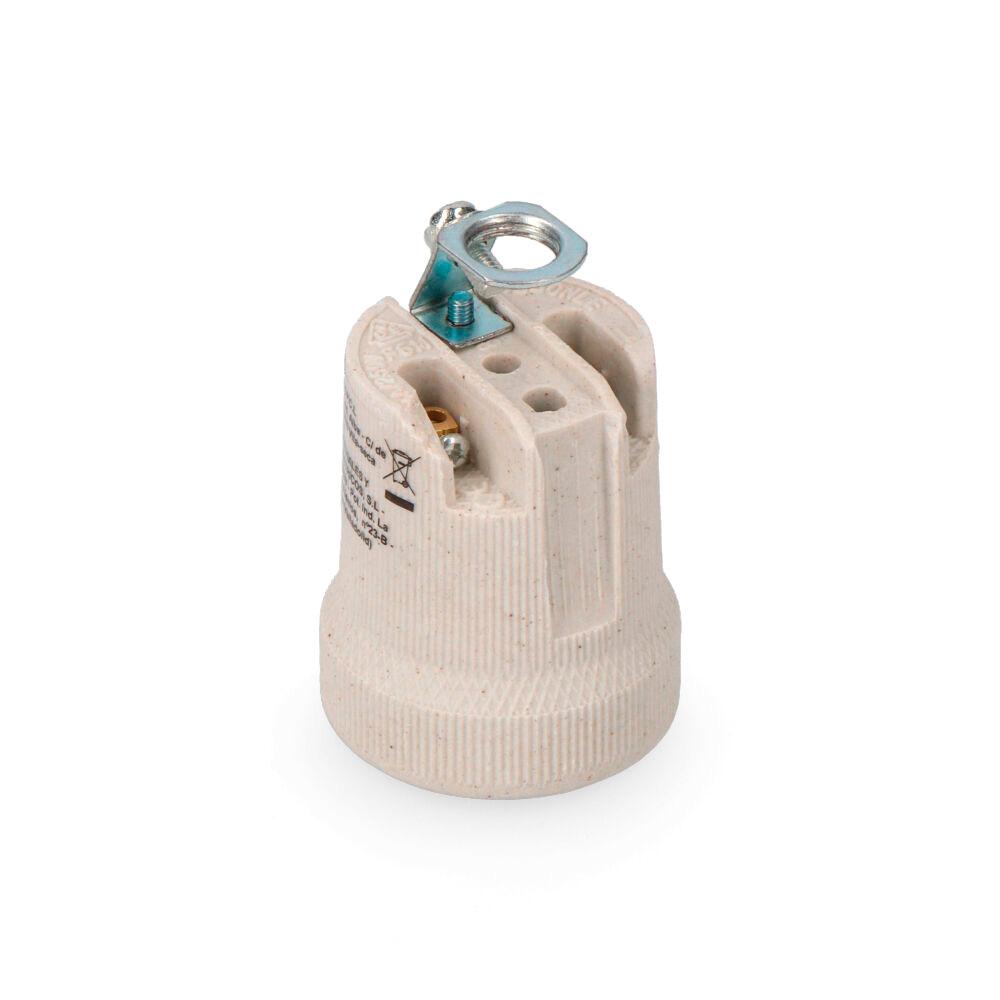 Portalamparas Porcelana E-27 Edm