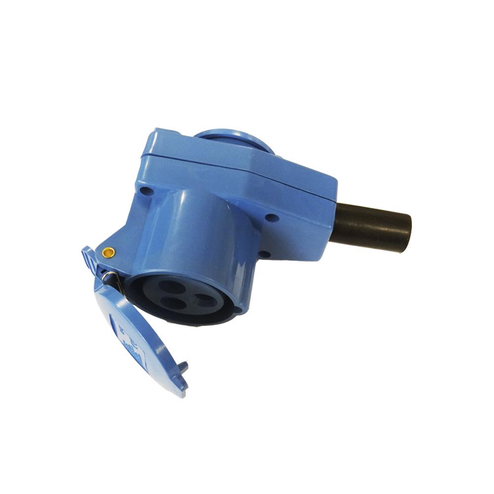 Adaptador Cetac Monofasico/Schuko Para Cable 2P + T 16A