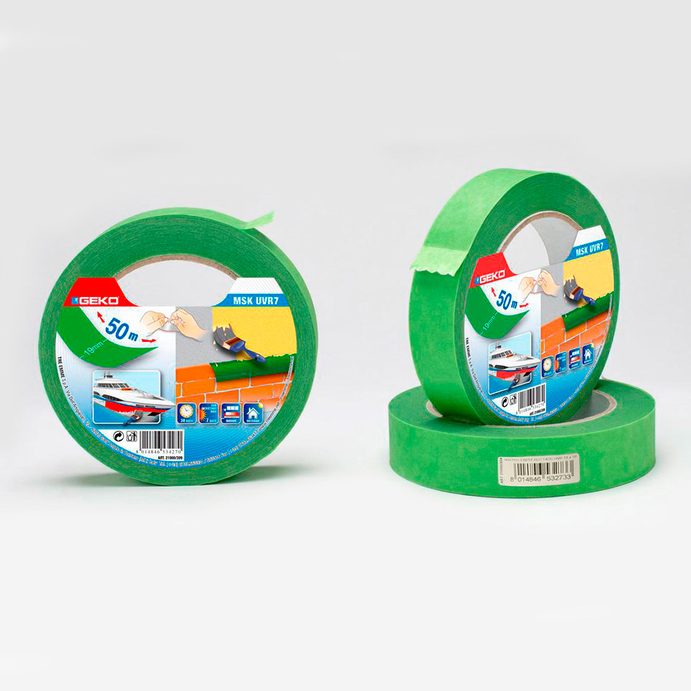 Cinta Masking Verde  19Mmx50Mts Resistente Uv Para Uso Exterior