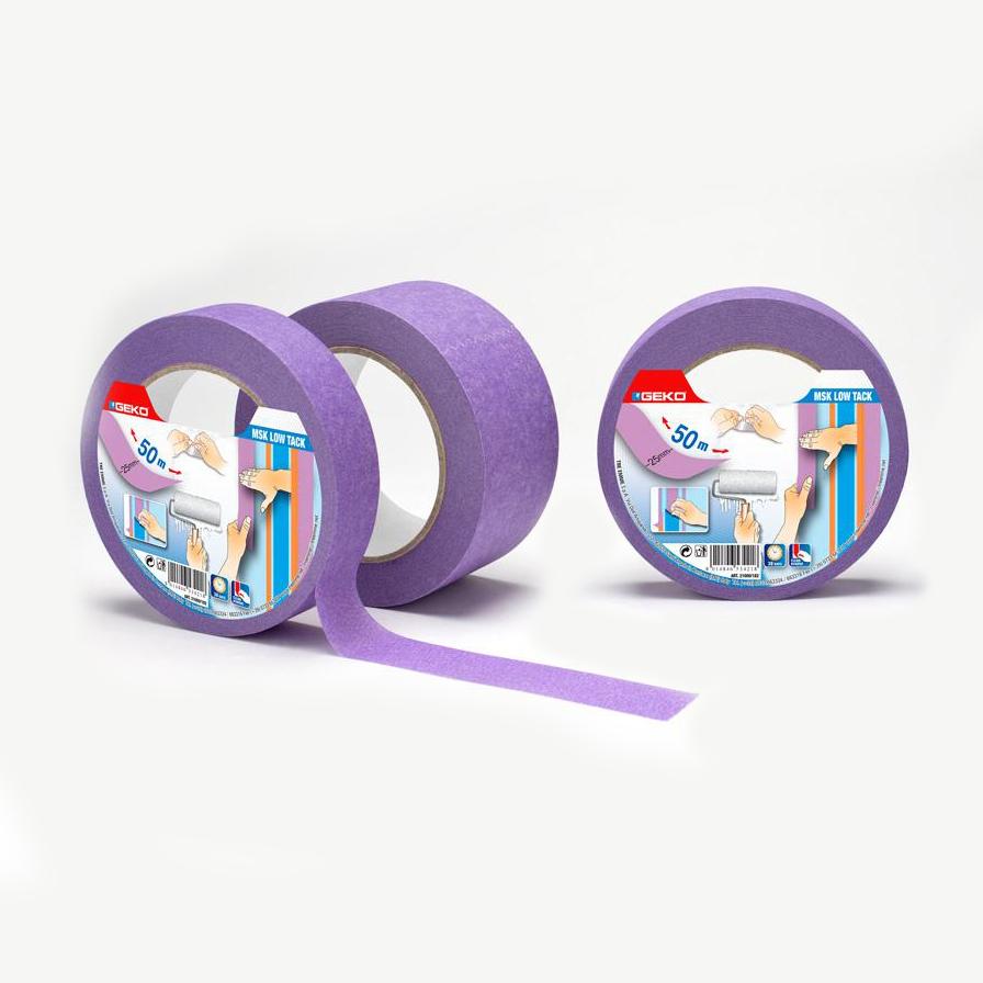 Cinta Masking Lila  50Mmx50Mts  Baja Adhesividad Para Superficies Delicadas