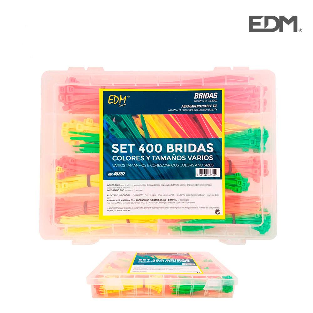 *Ult.Unidades* Set De 400 Bridas Colores Y Tamaños Varios Presentacion En Caja
