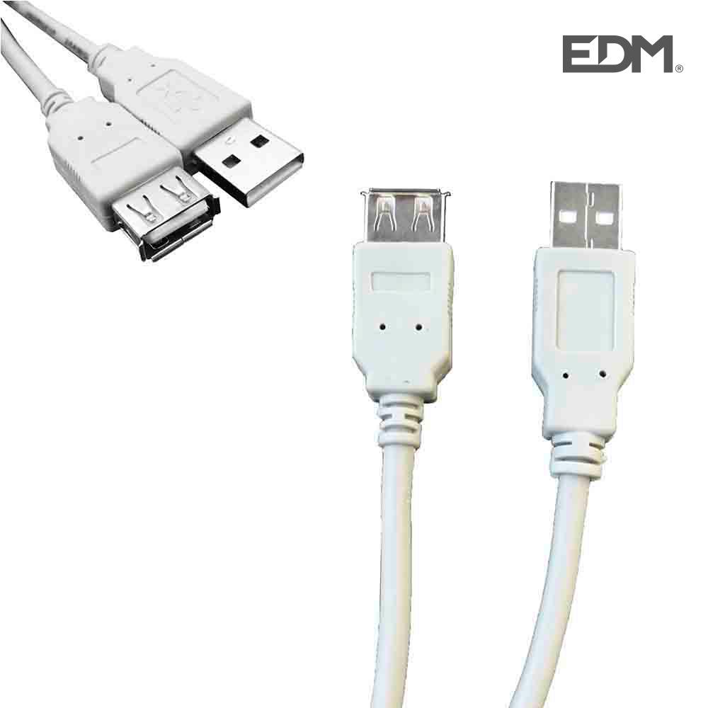 *Ult. Unidades* Cable Usb Tipo A Macho A Conexion Usb Tipo B Hembra 1,80M Edm