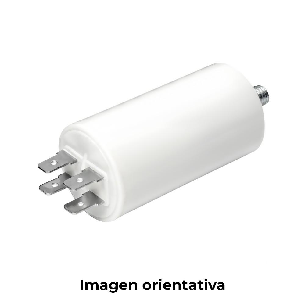 Condensador Mka 50 Uf 5% 450 V 50X94 Con Espiga M8 Y Faston Doble