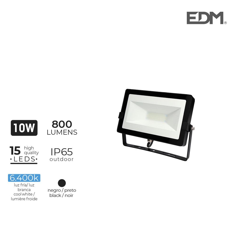 "Foco Proyector Led  10W 6400K 800 Lumens ""Black Edition"" Lumeco"