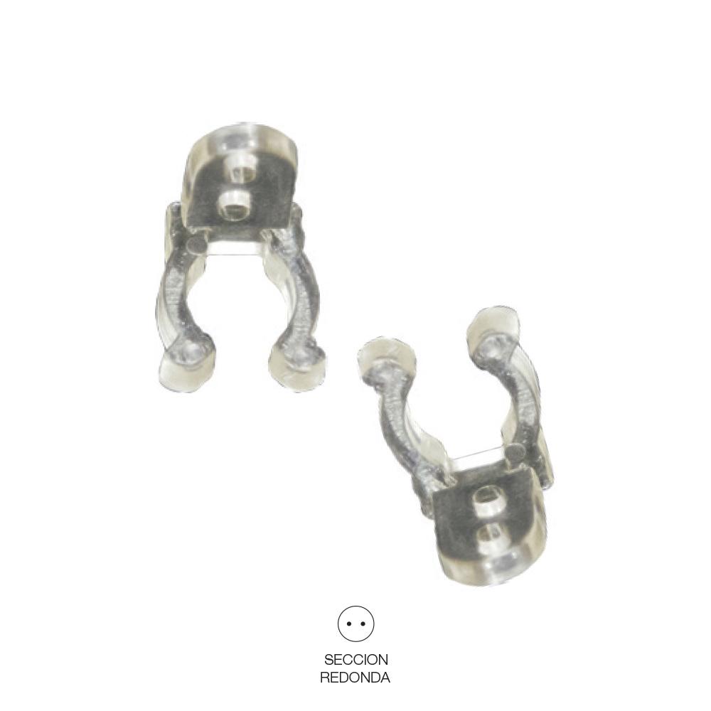 *Ult. Unidades* Clip Para Tubo Flexilux/Flexiled  2  Y 3 Vias Edm