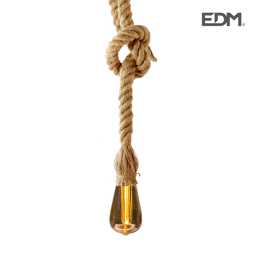 *Ult. Unidades* Kit Colgante Vintage Cuerda Con Bombilla Tubular Inlcuida  3Xaaa