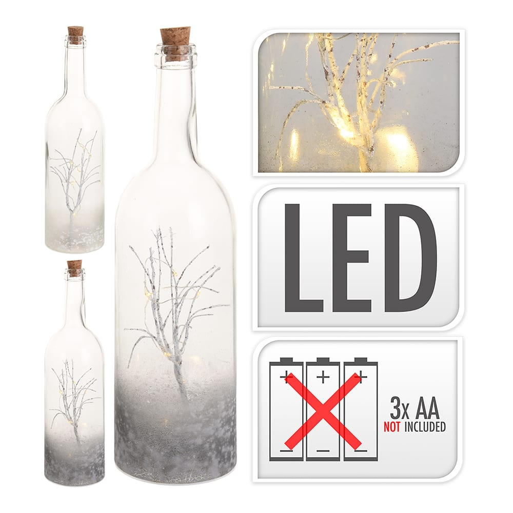 *Ult. Unidades* Botella Led Efecto Deco 34Cm