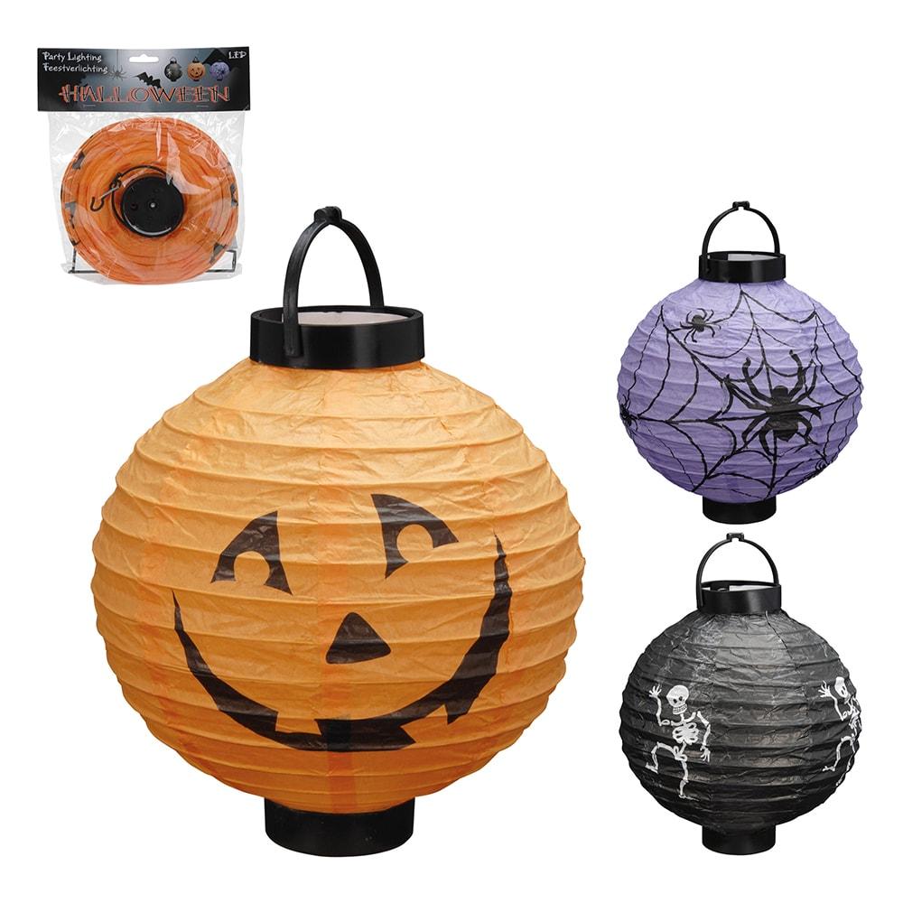 Linterna Led  De Papel Diseños Halloween