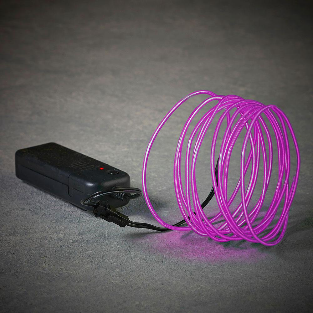 Cuerda De Neon Color Lila 275Cm