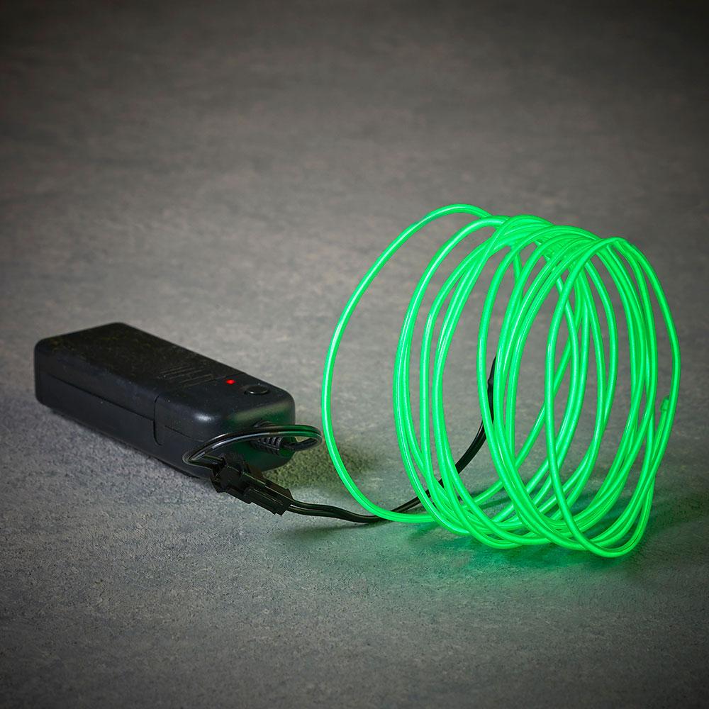 Cuerda De Neon Color Verde 275Cm